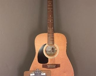 Brand new Art & Lutherie, wild cherry acoustic. $280