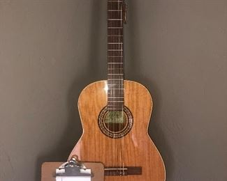 Brand new La Patrie, concert, acoustic guitar, butterfly motif. $400