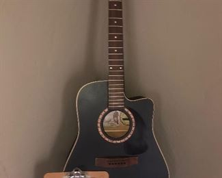 Brand new, but damaged and missing parts, Art & Lutherie Cedar CW Acoustic/electric $120