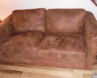 Sleeper sofa brown no rips,tears or stains