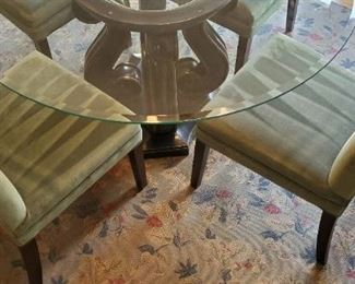 Chairs in excellent condition (beautiful shade of green - like a dark mint color)