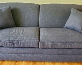 """$150 - Blue Sofa 84""""W x 36""""D x 35""""T"""