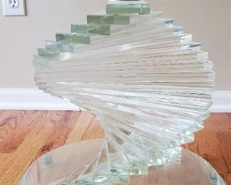 Glass base of coffee table