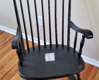 "$40 - Black rocking chair 24""W & 40""T"