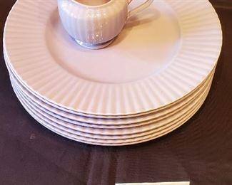 $15 - 8 LAVENDER Mikasa Potpourri Lavender Sachet plates & one creamer (They are lavender in color!)