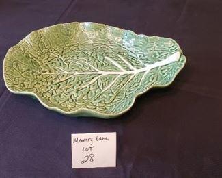 """$25 - 15"""" long Bordallo Pinheiro cabbage shallow serving bowl"""