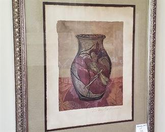 """$30 - Dragonfly Vase Print 34 ¼"""" x 40 ½"""""""