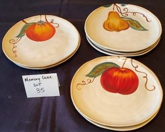 """$18 - 7 Tabletops Unlimited Ceramica Classica Hand-painted 8"""" salad plates"""