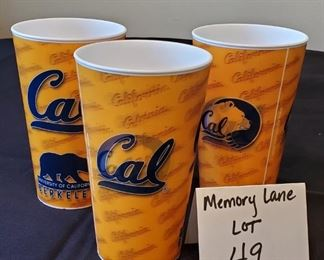$3/all - 3 University of California Berkeley Holographic/Lenticular printed Cups