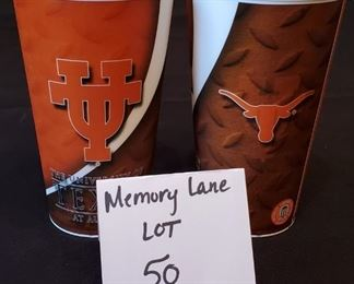 $5/all - 3 University of Texas at Austin Holographic/Lenticular printed Cups (3rd one not pictured but is included)