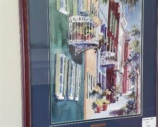 "$60 - Victoria Platt Ellis 'Rainbow Balconies North' 32""x27"""