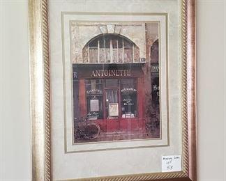 """$30 - 25"""" x 31"""" Antoinette Print"""