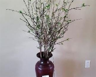 """$30 - 26"""" tin vase with battery operated lights"""