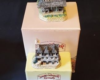 $25/all - 2 David Winters Cottages - British Traditions - August 'Grouse moor lodge' & January 'Burns reading room'. Both come with original boxes and COA's