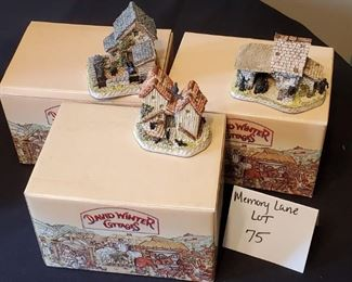 $30/all - 3 David Winters Cottages - The Shires - 'Yorkshire Sheep Fold', 'Berkshire milking byre' & 'Hampshire hutches. All come with original boxes and COA's.