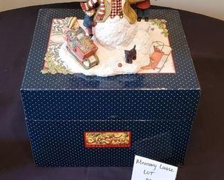"$10 - Sherri Buck Baldwin - 1998 1st Ed. Classic Santa Collectibles Statue & box App. 6""T x 7""W"