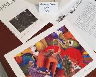"$15 - Marcus Glenn Seriolithograph ""Love that Jazz"""
