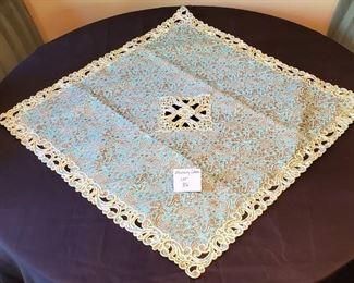"$20 - Beautiful Iraniun Art tablecover 34.5"" x 34.5"" Square *Unused*"
