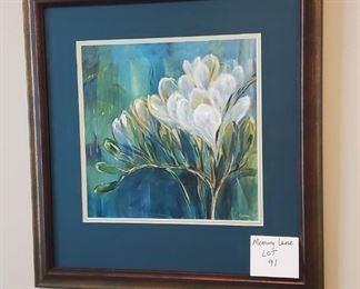 """$25 - Flower wall art 20"""" X 20"""""""