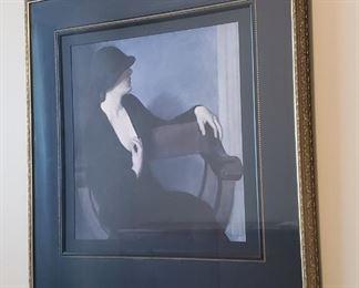 "$50 - ""Lady in Black"" print 39""X34"""