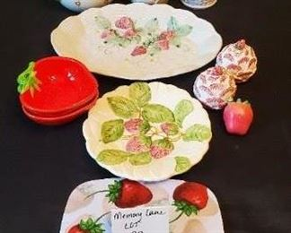 $23/all - Strawberry Lot! Decor & dishes