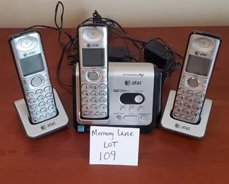 $10 - Set of 4 AT&T cordless phones (4th one found after pictures taken)