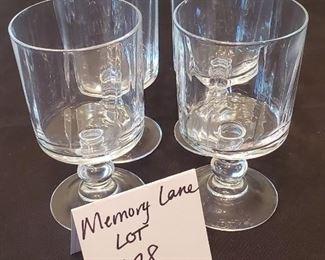 "$2 - Set of 4 glasses 5.5"" tall"