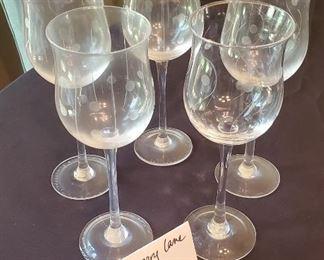 "$5 - Set of 5 9""tall wine glasses"