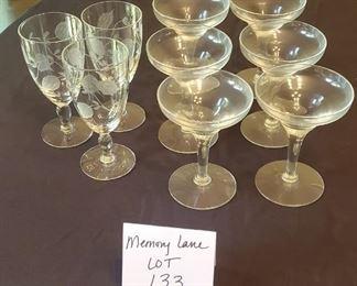 """$3 - (6) 4.5"""" glasses & (3) 5.25"""" glasses"""