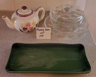 """$12 - Miscellaneous kitchen items (rectangle platter is 6.75"""" x 13.25"""")"""