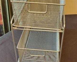 "$4 - Metal sliding drawer organizer 7.5 wide x 12.5"" tall"