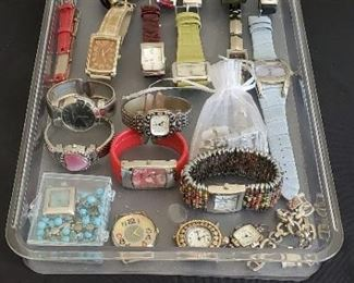 $40 - Lot of 23 fashion watches, all need batteries