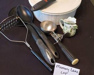 $10 - Corningware bowl and misc. kitchen items