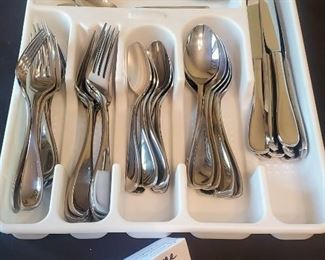 $30 - Oneida flatware set Service for 8 & 3 extras plus tray (the flatware is heavy and thick)