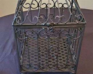 "$15 - Metal bird cage decor (not thin-flimsy metal) 16"" tall"