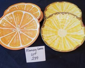 """$10 - 6 Sakura Evolution Melamine 8"""" plates (3 of each design)"""