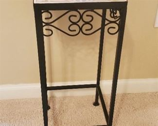 """$12 - Tile top plant stand 20"""" tall"""