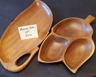 $8 - 2 large wood trays/decor
