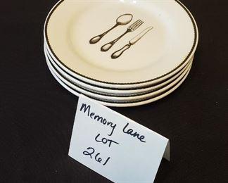 "$10 - 4 CIROA simple serve 5 7/8"" desert plates"