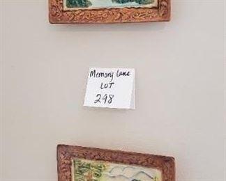 "$8 - Ceramic wall art - Hand painted 7.5""x6.5"""