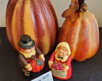"""$8 - Autumn lot Tall styrofoam pumpkin is 11"""" tall"""