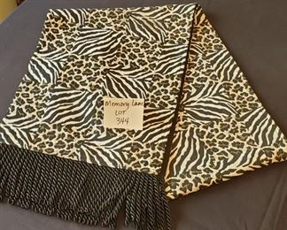 """$6 - Table runner - 79"""" to end of tassels"""