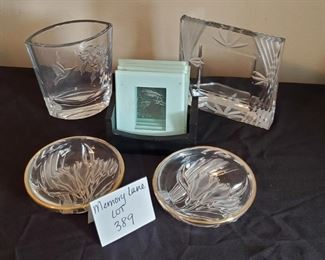 """$12 - Glass decor. Floral bowls are 5"""" in diameter."""