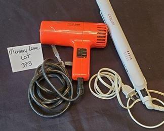$12 - Conair straightening iron & Son-of-a-gun blow dryer