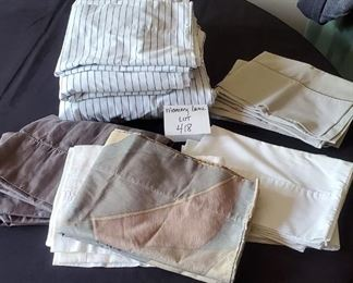 $8 - 3 pc. twin set & 8 other pillowcases