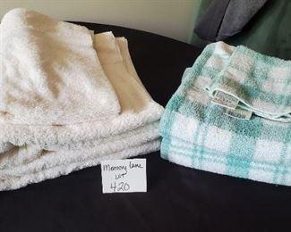 $11 - Martha Stewart - 2 bath towels & 2 washcloths. Martex - 2 bath towels & one hand towel