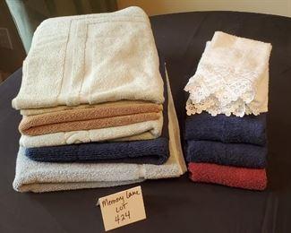 $12 - 5 Floor towels a 5 hand towels