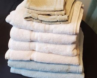 $14 - 6 bath towels (white ones are JC Penney), 2 washcloths & 1 hand towel