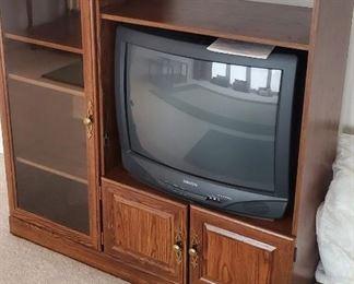 "$20 - TV Cabinet 48"" x 48"" x 17"" & TV"