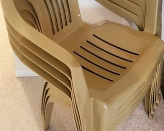 $20 - 4 Plastic Stacking Chairs